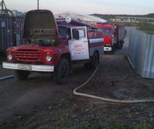 Ликвидация пожара в офисном здании в Ломоносовском районе