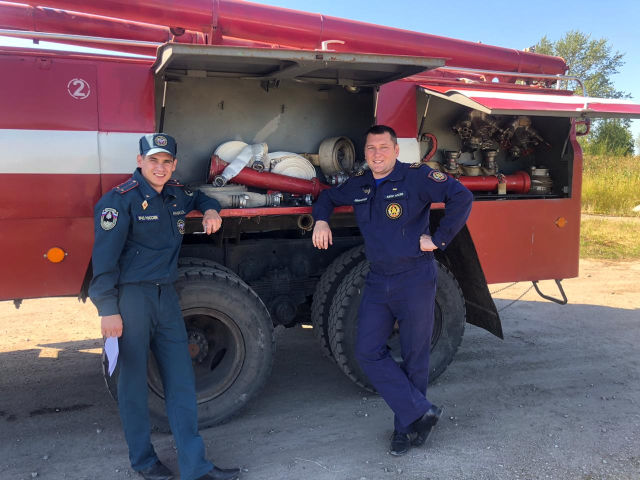 Тактические учения пожарных добровольцев (Тосненский район)