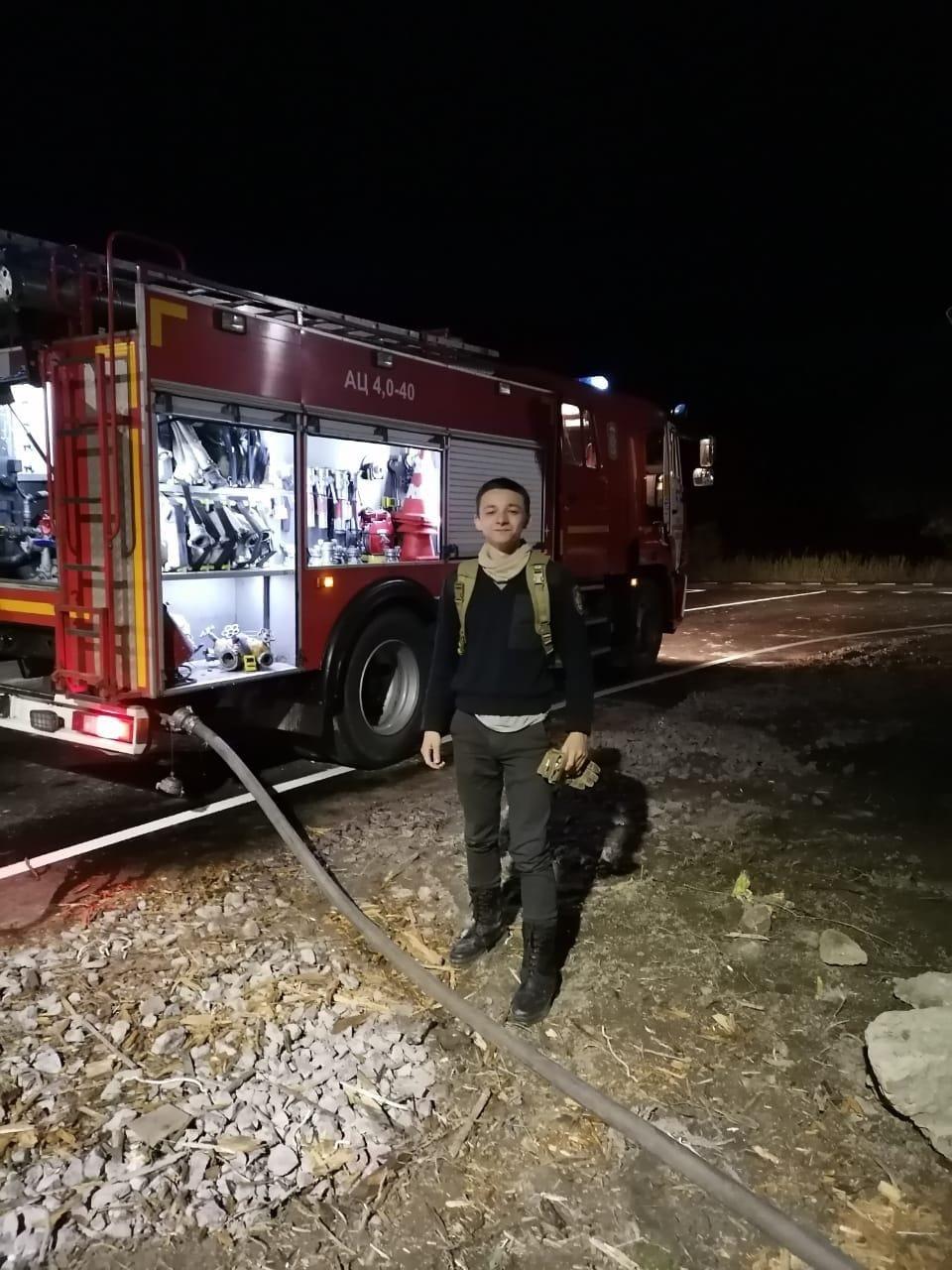 Профилактическая работа юного пожарного Ломоносовского района