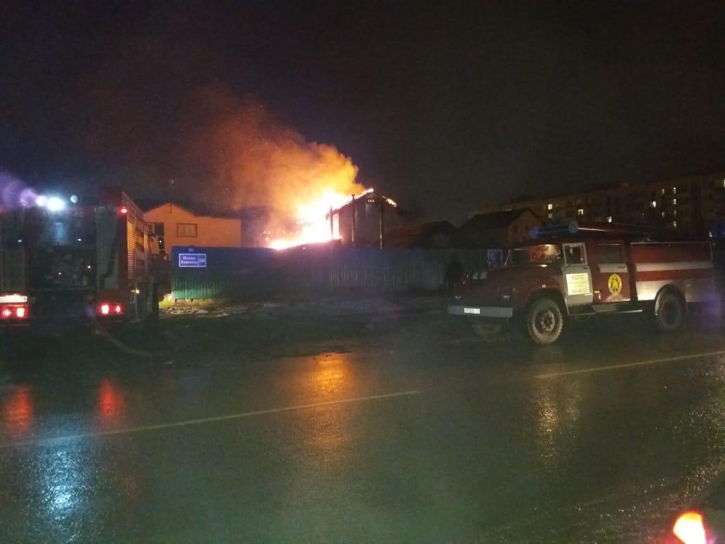 Пожар в деревне Малое Карлино Ломоносовского района